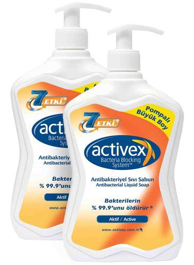 Activex Activex Antibakteriyel Sıvı Sabun 2li set Aktif 2 x 700 ml Renksiz
